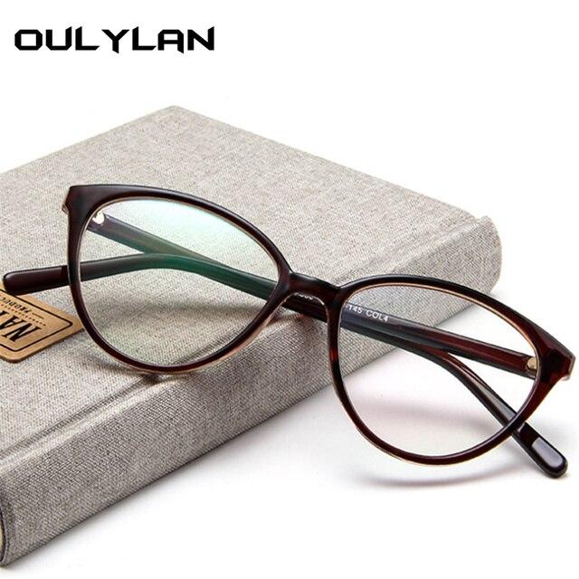 Oulylan Olho de Gato Retro Armações de Óculos Ópticos 2018 Transparentes  Mulheres Óculos de Armação Ultra 957473dc0b