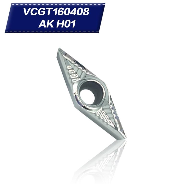 100 db VCGT160408 AK H01 VCGT332 alumínium vágópenge betét - Szerszámgépek és tartozékok - Fénykép 1