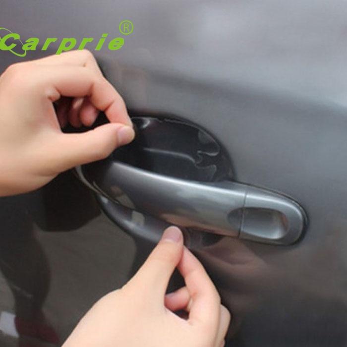 цена на Sticker Autocollant 2017Auto car stickers 4x Car Door Wrist Handles Scratches Protective Film Vinyl car styling accessories