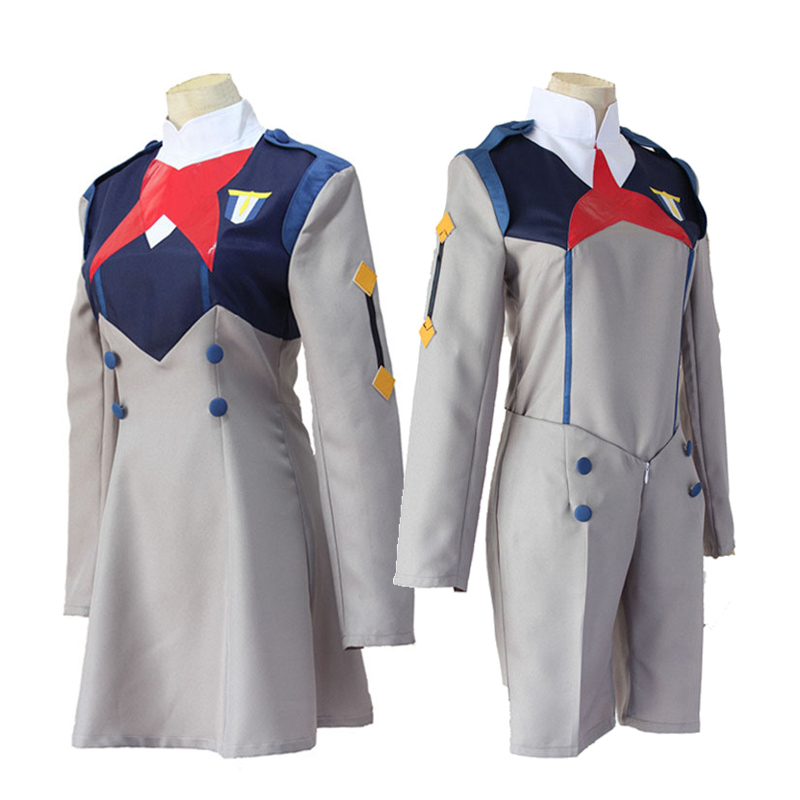 Anime DARLING in the FRANXX Cosplay Costume ICHIGO CODE 015 Dress HIRO CODE 016 Tops Shorts School Uniform Sets