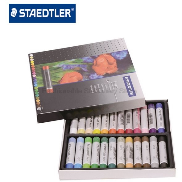 STAEDTLER 2420 C24 24 color Round Shape 70*11mm Oil Pastel for Artist Students Drawing Pen School Stationery Art Supplies bgln thick color artist 24 color oil pastels set round shape oil pastel crayon sticks 24 colors set school stationery