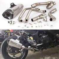 Полная выхлопная система для Kawasaki Z250 Z300 Ninja 250 300 мотоцикл заголовок трубы скольжения 51 мм Глушитель с DB Killer Escape