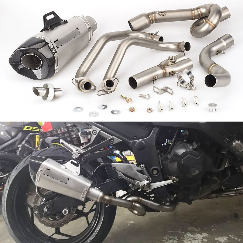 Full Exhaust System for Kawasaki Z250 Z300 Ninja 250 300 Motorcycle Header Link Pipe Slip On 51mm Muffler with DB Killer Escape Exhaust & Exhaust Systems     - title=