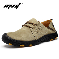 MVVT Comfort Casual Shoes Men Brand High Quality Men Shoes Top Grade Genuine Leather Shoes Spring