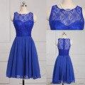 New Design Sleeless Lace Bridesmaids Dresses High Quality Vestidos Mini Cheap Chiffon Short bridesmaid dress custom made