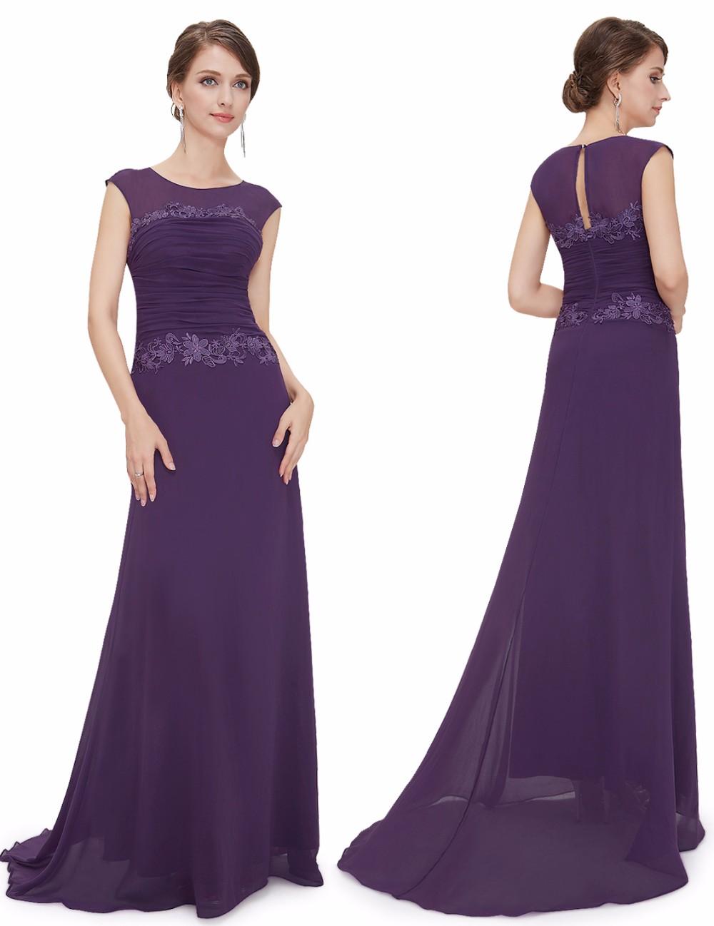 Round Neck Long Elegant Bridesmaid Party Dress