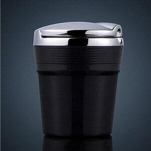 Image 3 - LED 가벼운 담배와 자동차 재떨이 연기 여행 리무버 애쉬 실린더 자동차 무연 연기 컵 홀더 자동차 액세서리