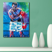 1 Piece Fashion Prints Wall Art Pop Art Oil Painting Muhammad Ali Poster Canvas Paintings For Living Room Decor No Frame