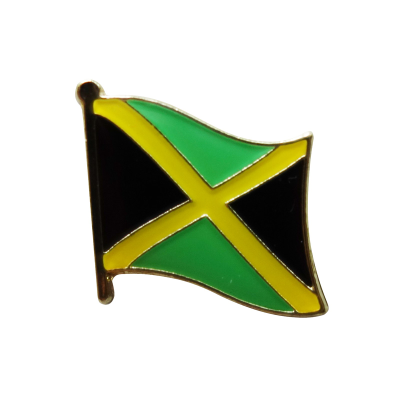 aliexpress com   buy jamaica country flag lapel pin badge iron plated brass paints epoxy