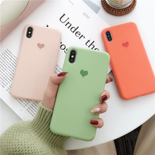 With Love Logo Liquid Silicone Case For iPhone XS Max X XR Cute Heart Microfiber Inner Phone 7 8 6 6S Plus