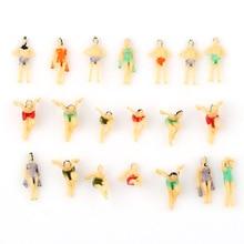 20 шт многоцветная модель пляжных людей цифры N масштаб 1:150 забавные позы Кукольный дом искусство