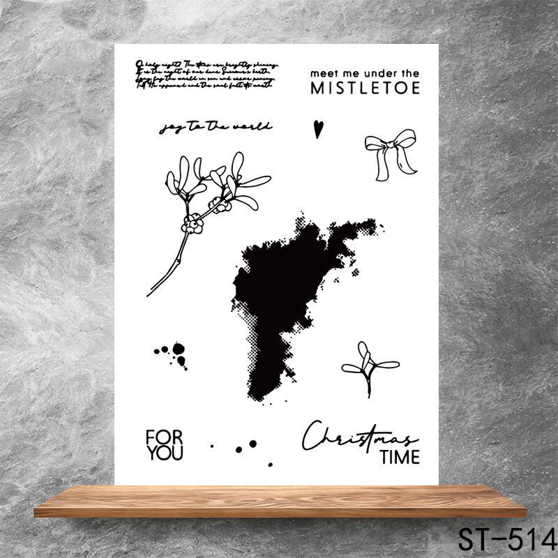 Meet me under the mistletoe Transparent Clear Stamps DIY Scrapbooking Album Card Making DIY Decoration Making Embossing Stencil in Stamps from Home Garden
