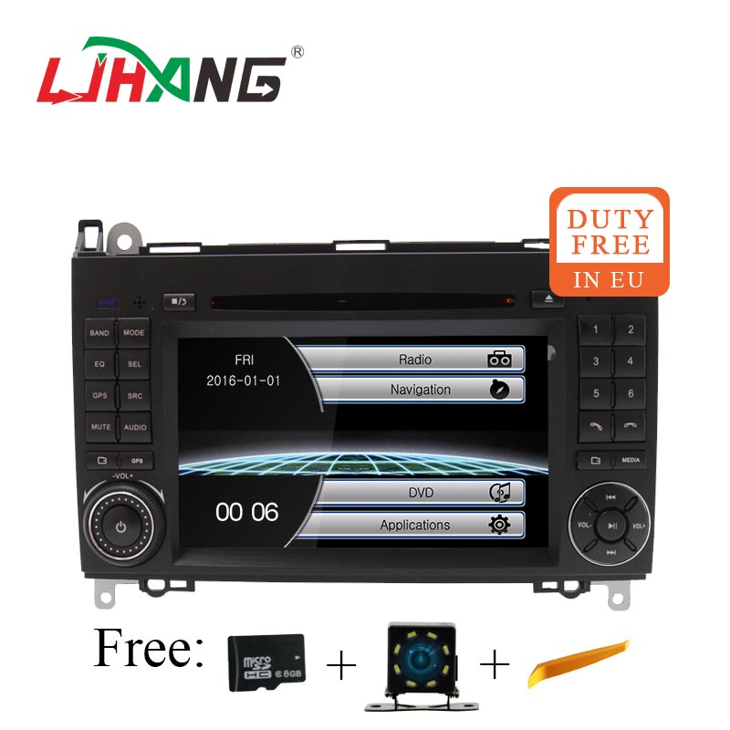 LJHANG 2 Din Car DVD GPS For Mercedes Benz B Class B200 W169 W245 W639 Viano Vito Sprinter B170 Auto Stereo USB Mirror Link RDS