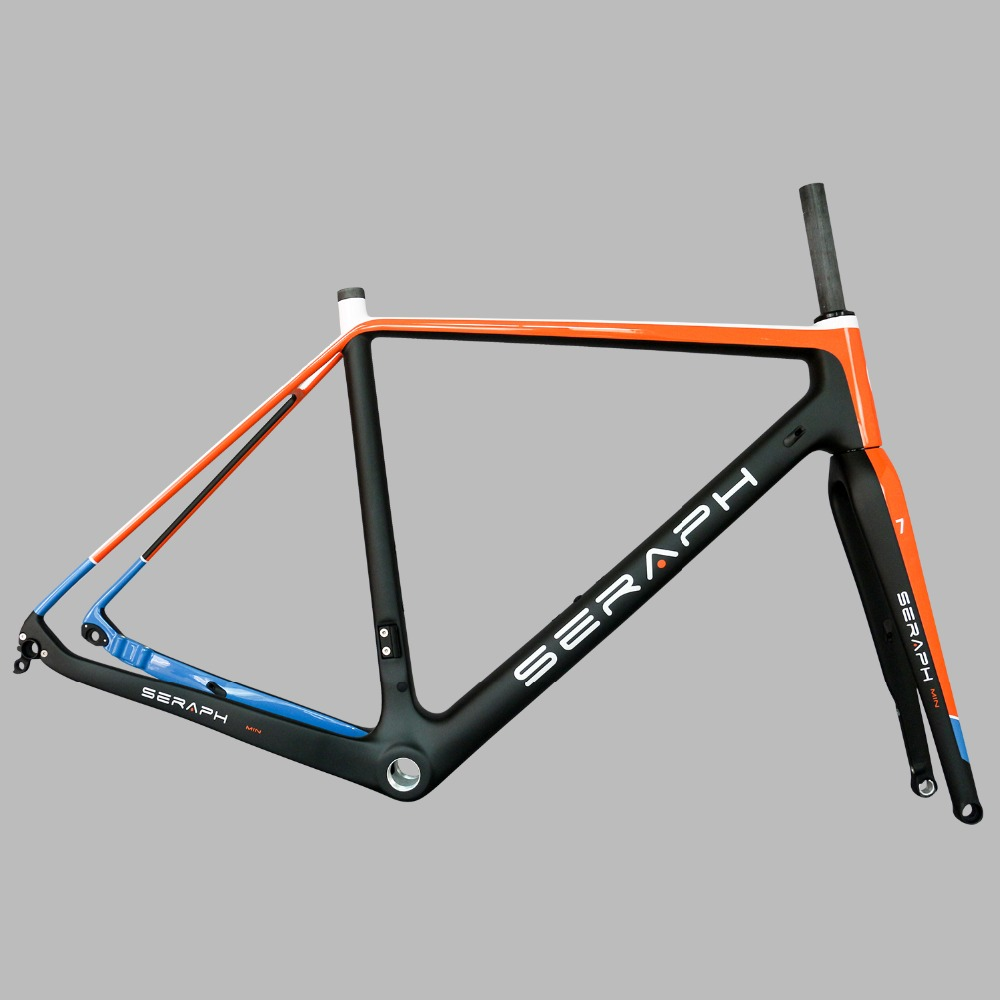 цена на 2019 Available Gravel 700C Carbon Bike Frame,SERAPH bikes Thru Axle 142mm Gravel Di2 Carbon Cyclocross Frame Disc GR029