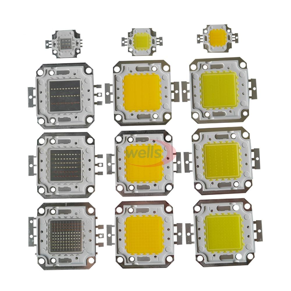 LED Chip High Power 10W-100W COB SMD LED Bead Cool Natuurlijke Warm Wit RGB 10-100 W Watt