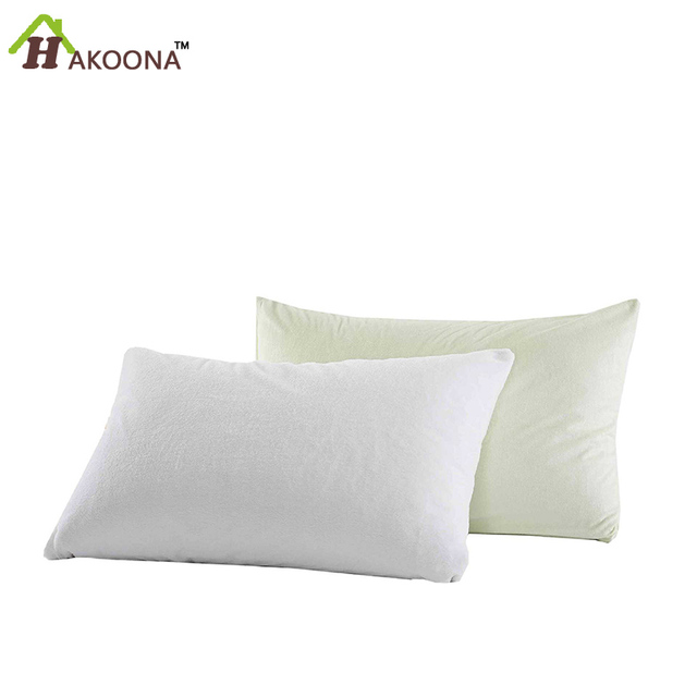 HAKOONA One Piece Waterproof Bed Pillowcase 40X40CM Breathable Simple Protective Pillow Covers