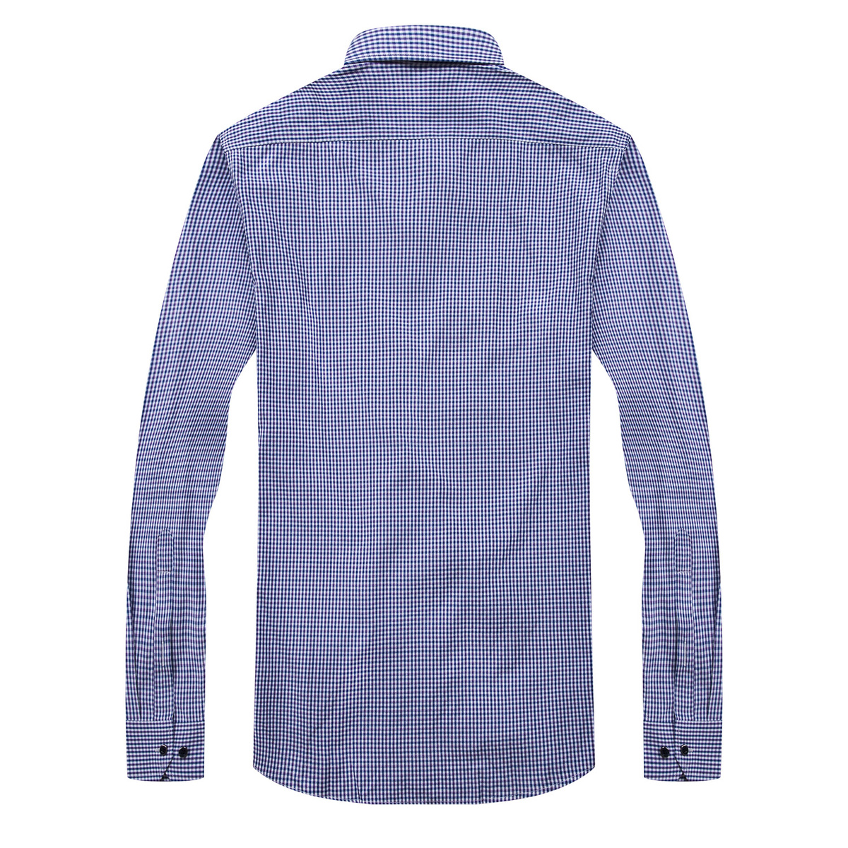 2018 All Seasons Business Leisure Cotton Male Square cut Collar Lattice Long Sleeve Men Shirt Slim Casual Homme Clothing 3XL 8XL in Dress Shirts from Men 39 s Clothing