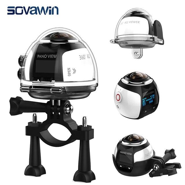 Sovawin 360 Degree Camera VR 4K Wifi Video Mini Panoramic 2448*2448 HD Panorama Action 30m Waterproof Sports Driving Cam 2017