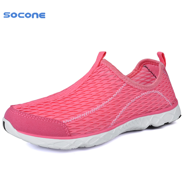 a58844f91a3e US $35.0 |SOCONE New Simple Sport Women Sneakers Summer Spring Breathable  Mesh Lady Running Shoes Cool Light Quick Drying Trainers 1968W on ...