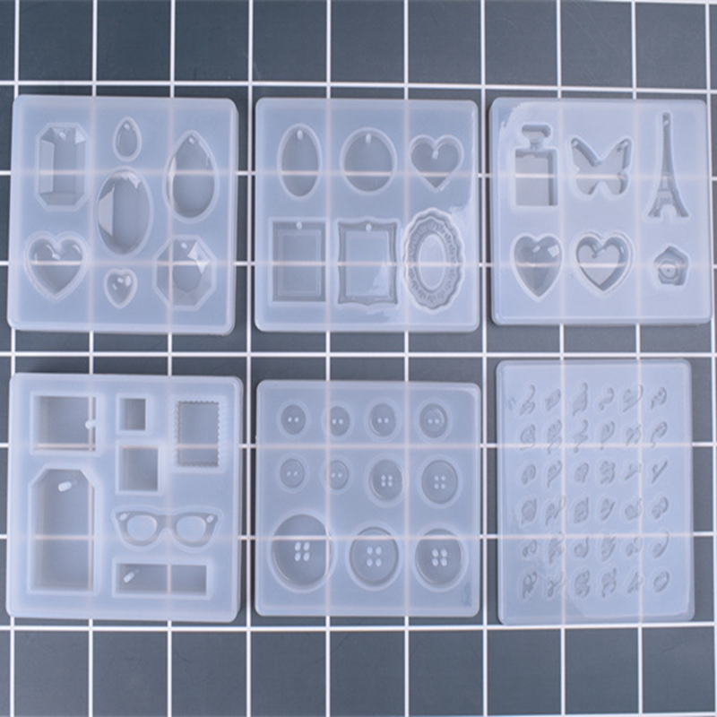 2018 New 1PCS Charms Pendant Craft DIY Transparent UV Resin Liquid Silicone Combination Molds for DIY Making Finding Accessories multiple types transparent clear stamp diy silicone seals scrapbooking card making photo album decoration craft accessories