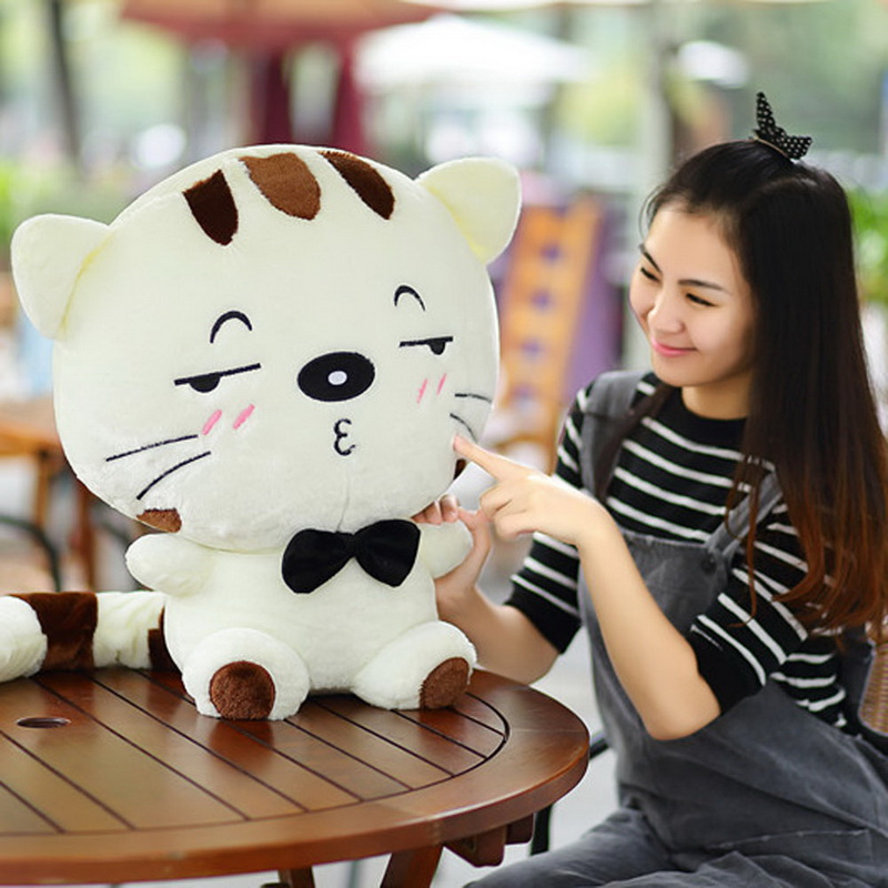 30cm Kawaii Brinquedos New Plush Toys Stuffed Animal Doll Pusheen Cat Pillow For Girl Kids Toys Big Cute Cushion Cover Hot Sale waterfall spout basin sink faucet golden finish bathroom mixer tap solid brass single handle with hole cover plate