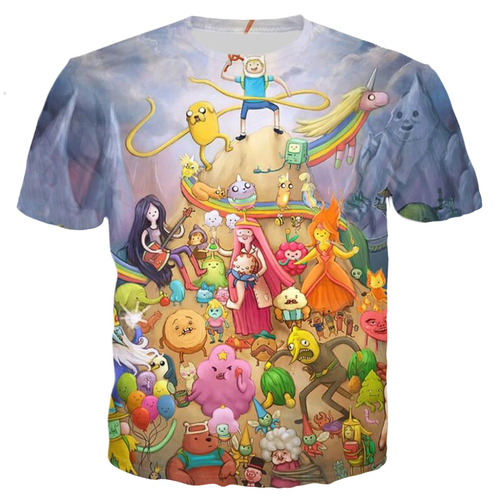PLstar Cosmos Adventure time T-shirt the characters t shirt women men 3d print graphic tees Fashion Summer tshirt clothes S-5XL