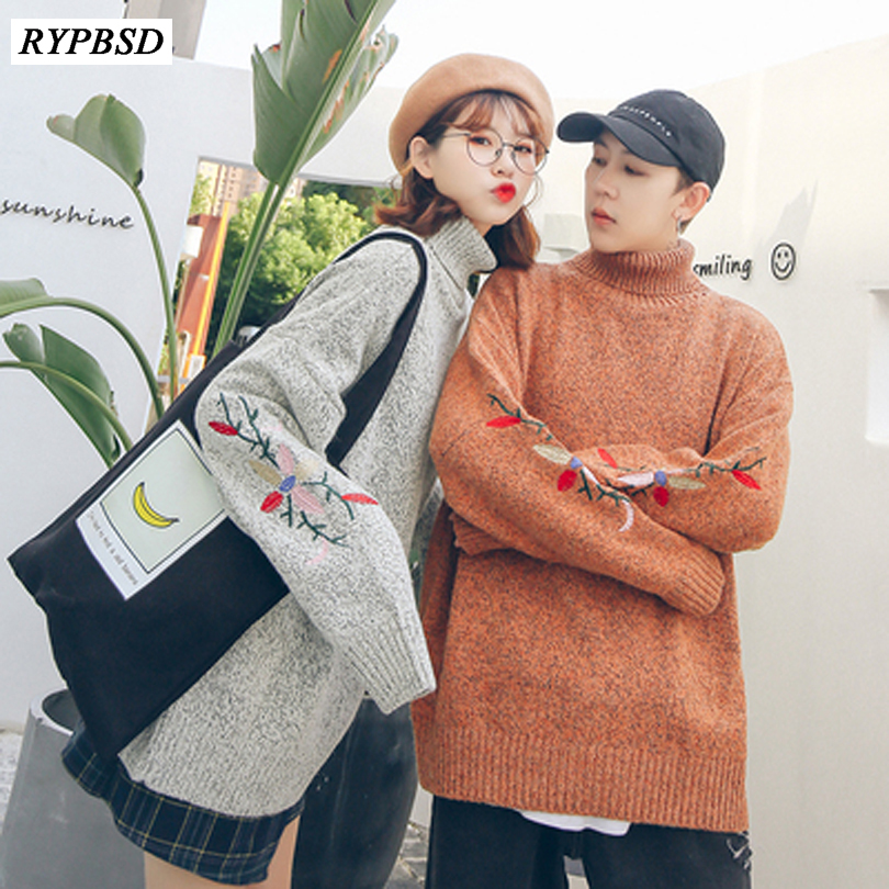 Knitted Turtleneck Men Sweater Man Solid High Collar Winter Pullover Men Sweater Coat Mens Turtleneck Sweaters 2019 New