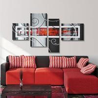 Группа Холст Стены Искусства Простой Абстрактная Живопись для Спальни Стены декор Ручной Набор Картина Маслом 4 Панель Wall Art Picture Unframe