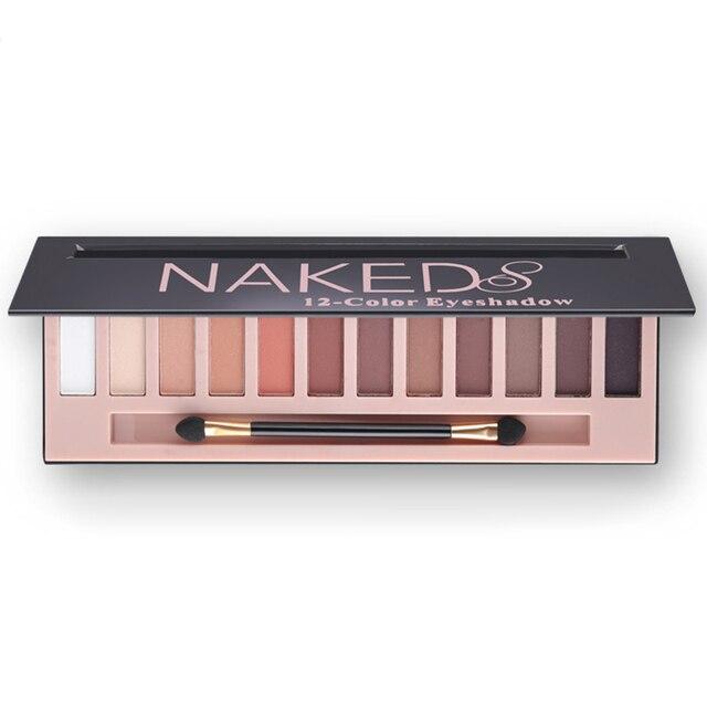 Женщины 12 Цветов Shimmer Или Матовый Тени Для Век Макияж Палитра Длительный Тени Для Век Natural Nude Naked Eyes Косметика С Кистью
