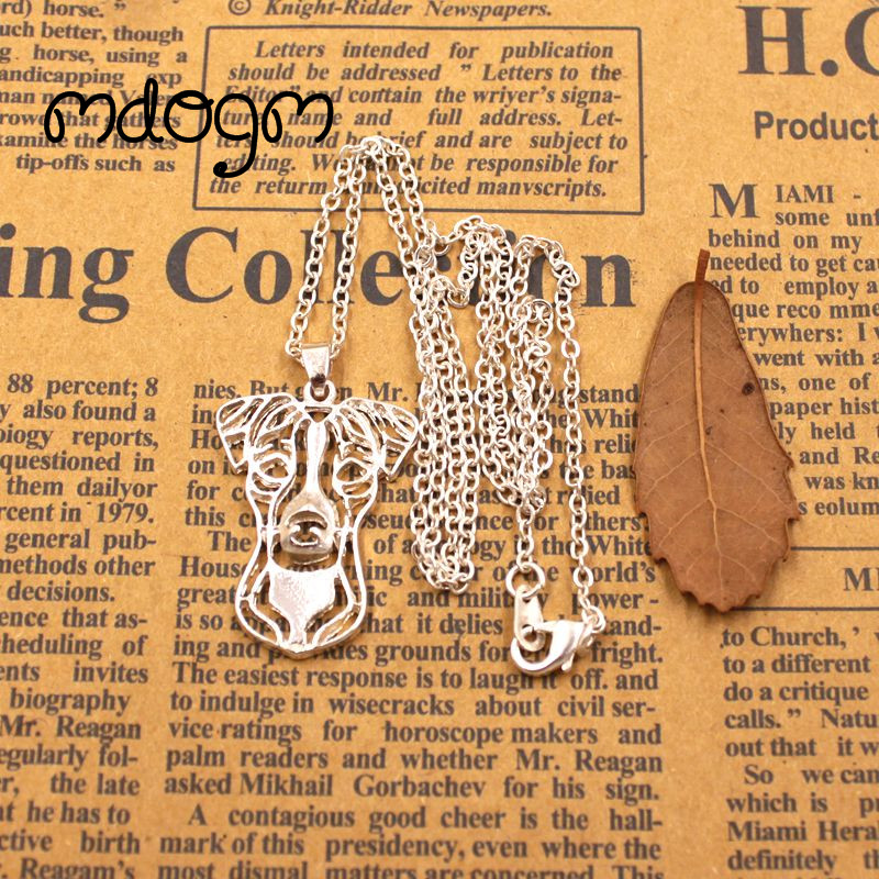 2018 Jack Russell Terrier Necklace Dog Animal Pendant Gold Silver Plated Jewelry For Women Male Female Girls Ladies Kids N071