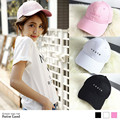 2016 new letter embroidery baseball cap hat cute Japan and South Korea series Caps