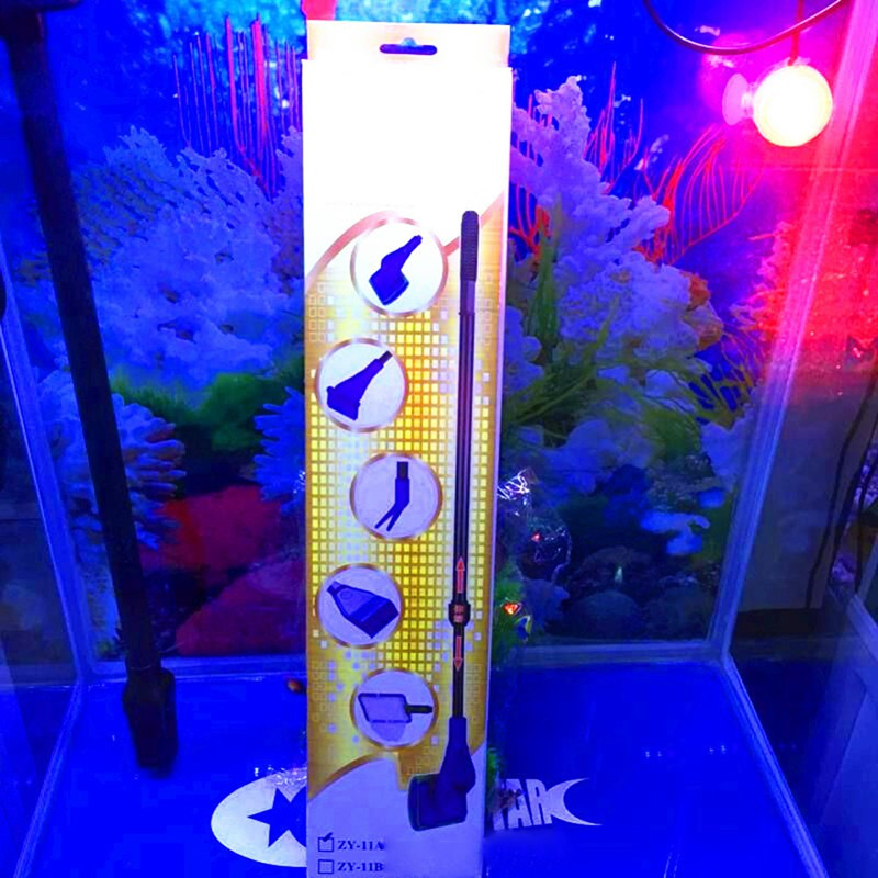 Creative Aquarium Cleaning Tool Set 5 In 1 Net Spider Fork Sponge Brush Rake Plastic Kits Pet Supplies Cleaning & Maintenance