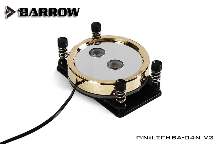 Barrow LTFHBA-04N V2 Gold Plated RGB LRC2.0 CPU Water Cooling Block for AMD AM2 AM3 AM4 barrow ltyk3aq 04 rgb cpu water cooling block for amd am2 am3 am4