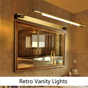Image 5 - Retro Vanity Lights 54/68CM LED Mirror Front Light Bronze Makeup Table Lamp Bathroom Cabinet Wall Lamps Bedroom home Decoration