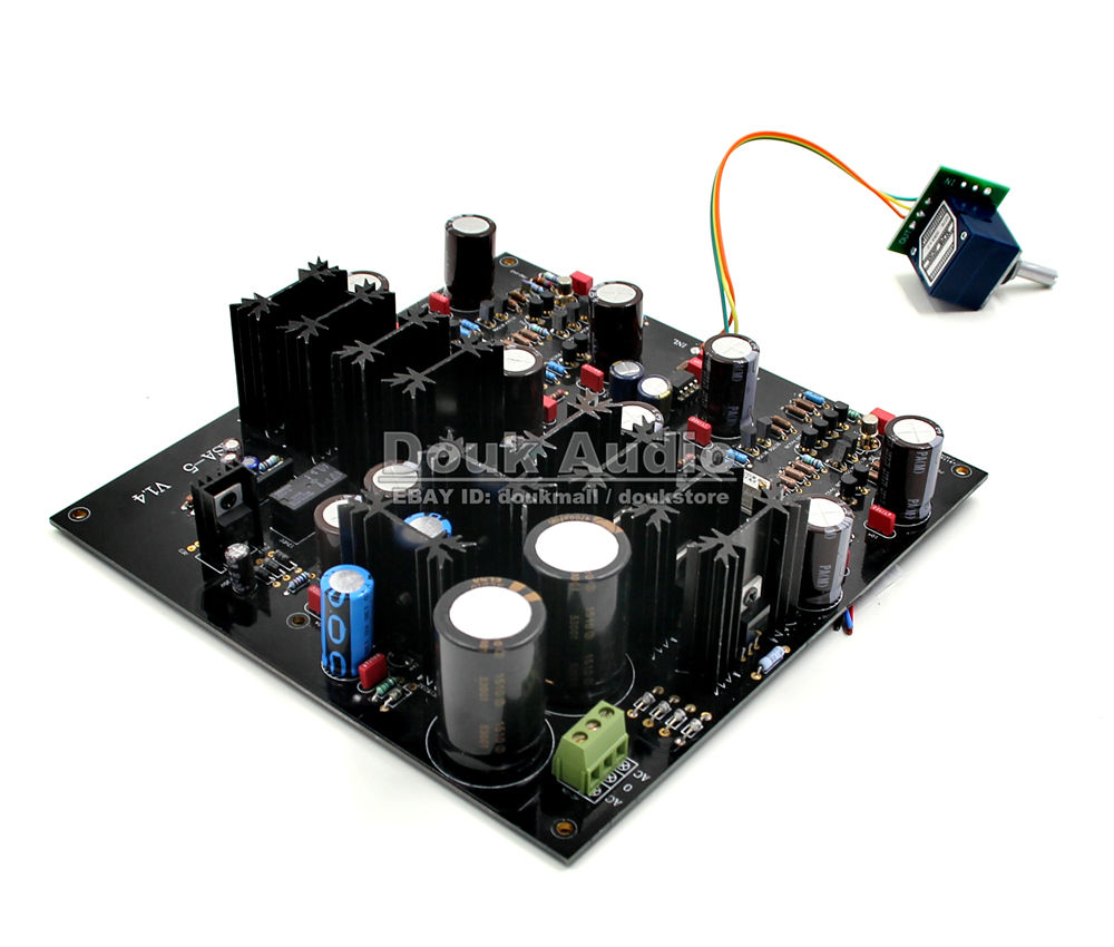 цена на Douk Audio HiFi Class A Full DC Headphone Amp Stereo Amplifier Assembled Board