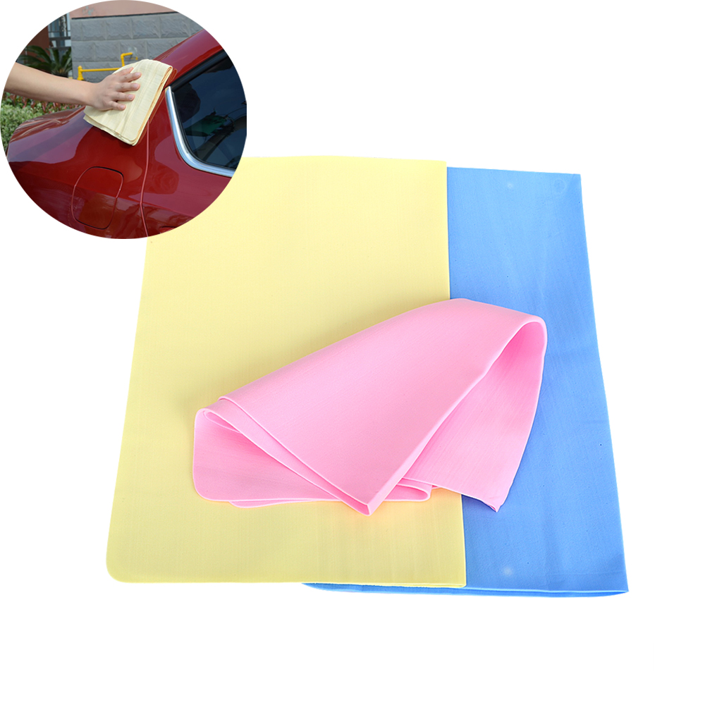 39*29cm 1PC Car Cleaning Cloths Super Absorption Car Accessories Handkerchief Synthetic Suede Car Wash Towel Auto Care