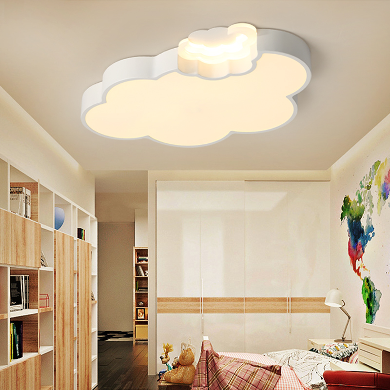 Simple Modern Led Cloud Ceiling Light Kids Room Lighting