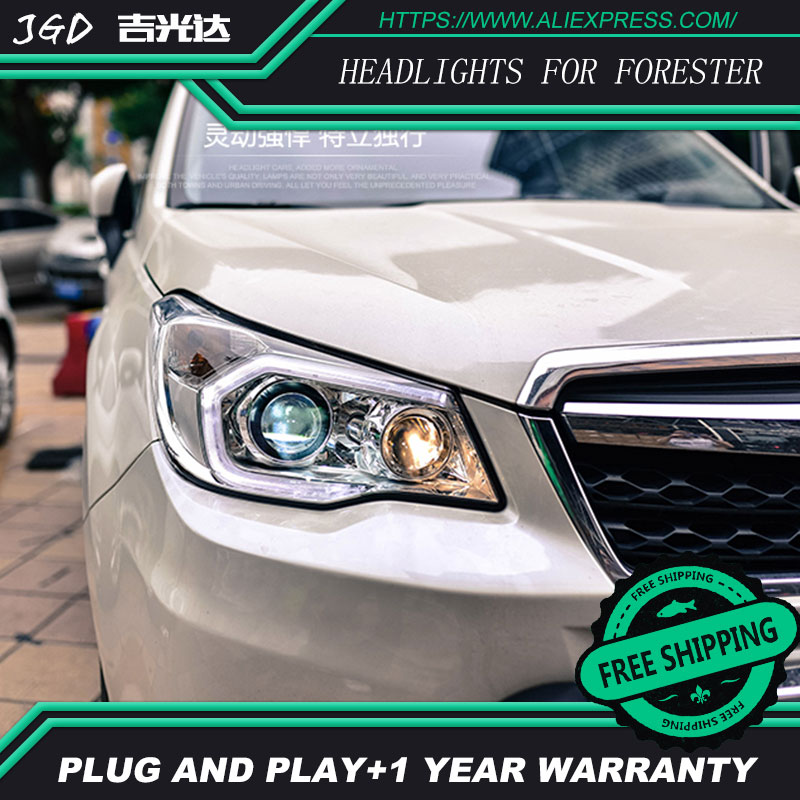 Car Styling Head Lamp case for Subaru Forester Headlights 2013-2016 LED Headlight DRL H7 D2H Hid Option Angel Eye Bi Xenon car styling head lamp case for subaru forester headlights 2013 2016 led headlight drl h7 d2h hid option angel eye bi xenon