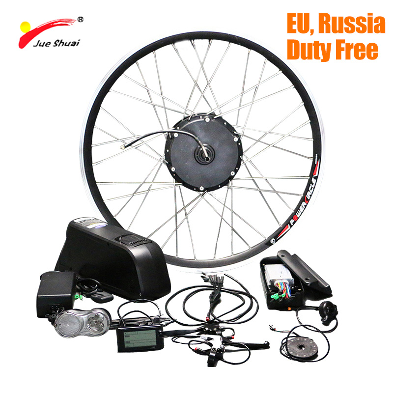 Duty Free Electric Bike Conversion Kit with Battery LG 18650 Lithium Battery 48V 500W Electric Bike Wheel Motor Mountain Bike