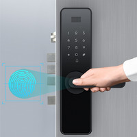 Anti Prying Password RFID Digital electronic Fingerprint High Security Smart Lock with Emergency Charging and Mechanical Key