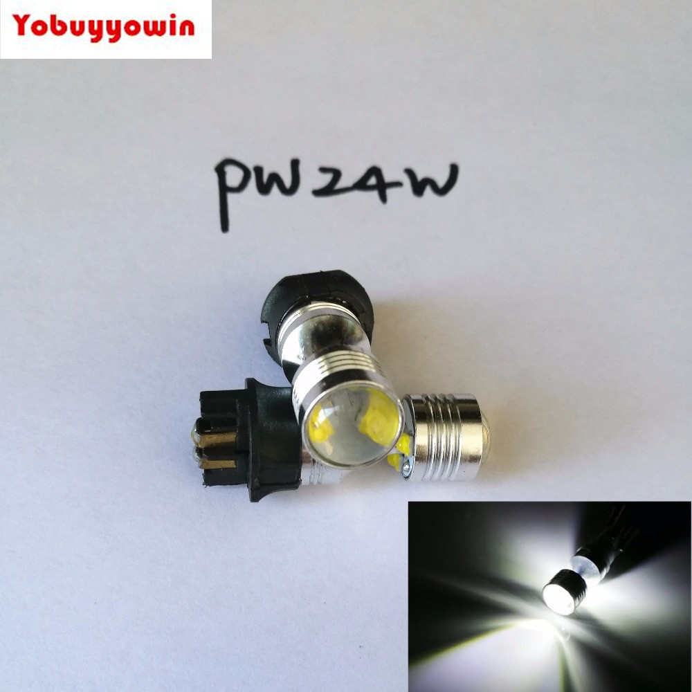 2x <font><b>PWY24W</b></font> 30W 6*5W CREE Chips LED canbus No Error Turn Signal Daytime Running Light PW24W White 6000K image