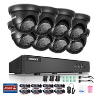ANNKE 8CH HD TVI 1080P CCTV System DVR And 8 720P Outdoor Waterproof Video Suveillance Kit