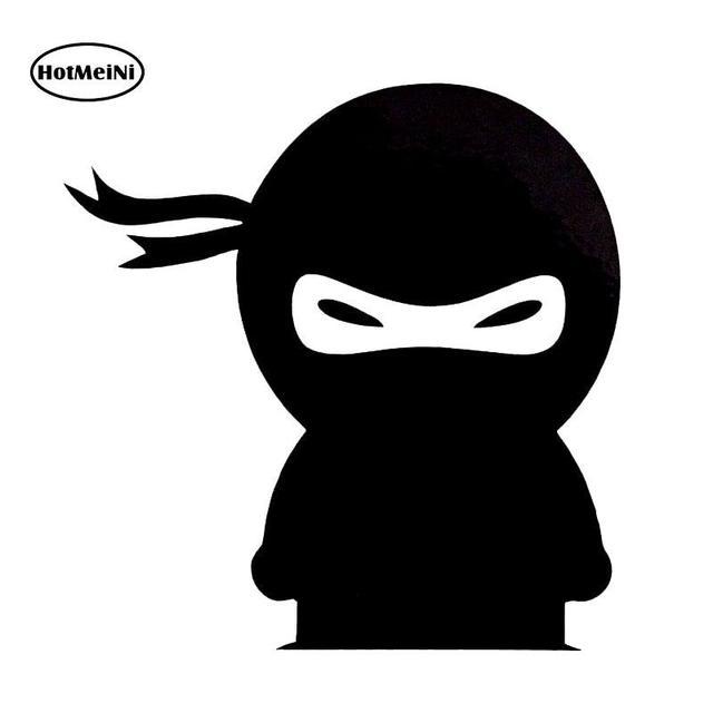HotMeiNi Car Sticker Cartoon Funny Ninja Vinyl Decal For Car Window Bumper Laptop Kayak Black/Silver Accessories 10*10.2cm