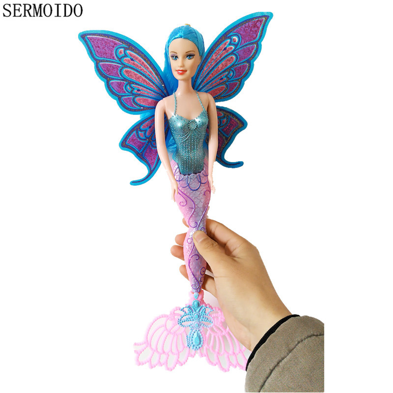Fashion Swimming Mermaid Doll Moxie Girls Magic Classic Mermaid Doll With Butterfly Wing Toy For Girls Birthday Gifts D17