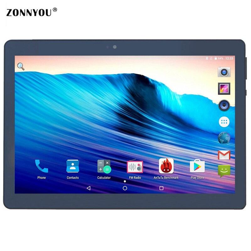 цена на 10.1 inch Tablet PC 2.5D Glas Android 7.0 Octa Core 4 GB RAM 32 GB ROM Octa Cores S-IPS Scherm Tabletten 10.1 + Blue PC