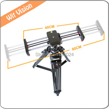40CM Portable Extension DSLR Track Dolly Slider for All Video Cameras and Camcorders With Carrying Bag