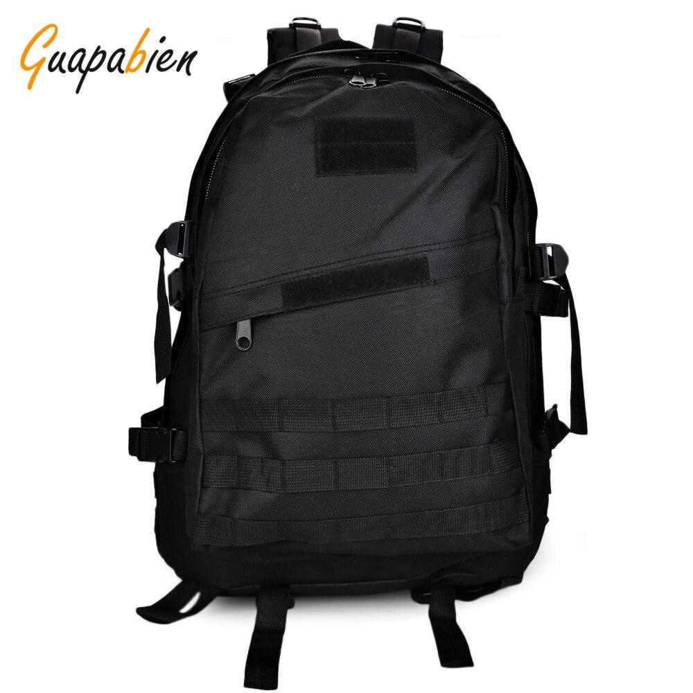 Guapabien Men Camouflage Backpack Velcro Black Military Backpack Army Green Big Male Rucksack Oxford Travel Waterproof Backpack l aver laver