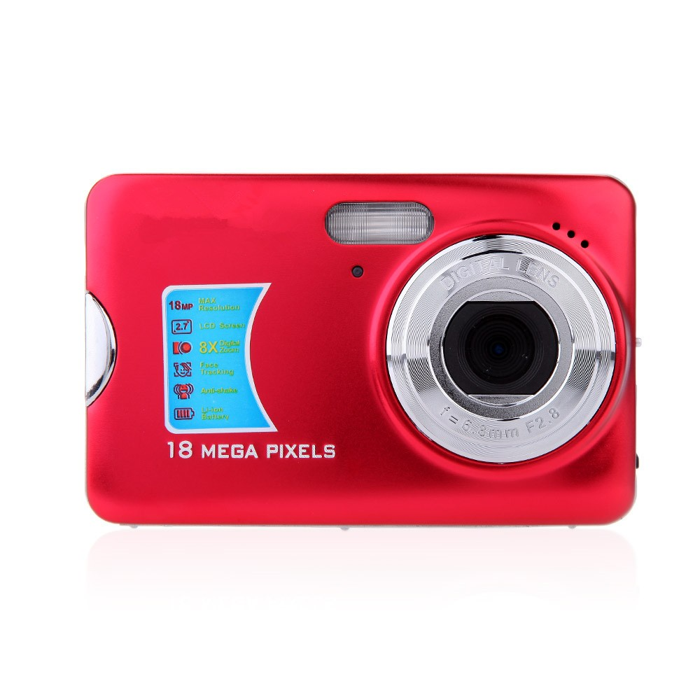 new high quality 18 mega pixels hd mini digital camera 18mp 8x zoom smile capture anti shake. Black Bedroom Furniture Sets. Home Design Ideas