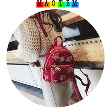 MAOTEM Factory Price!New Fashion Bag For 2017 Winter Women Velour Mini Backpack,Feminine Vintage Small Cute Backpack For Girls