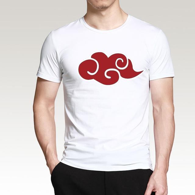 2019 Hot Sale Japanese Anime Naruto Akatsuki Red Cloud T Shirt Summer Men Short Sleeve Shirt 100% Cotton Loose Fit Male T-Shirts